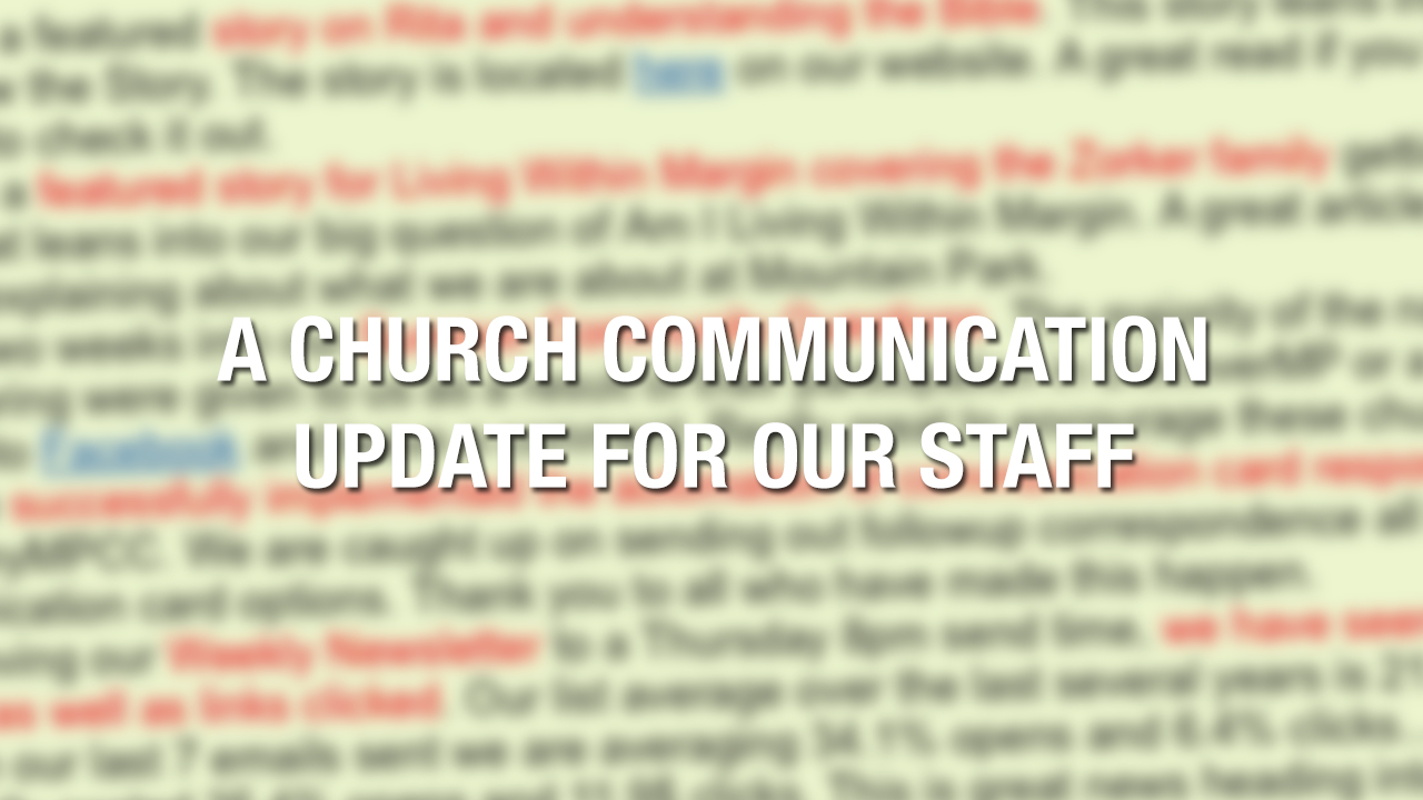 church-communication-update