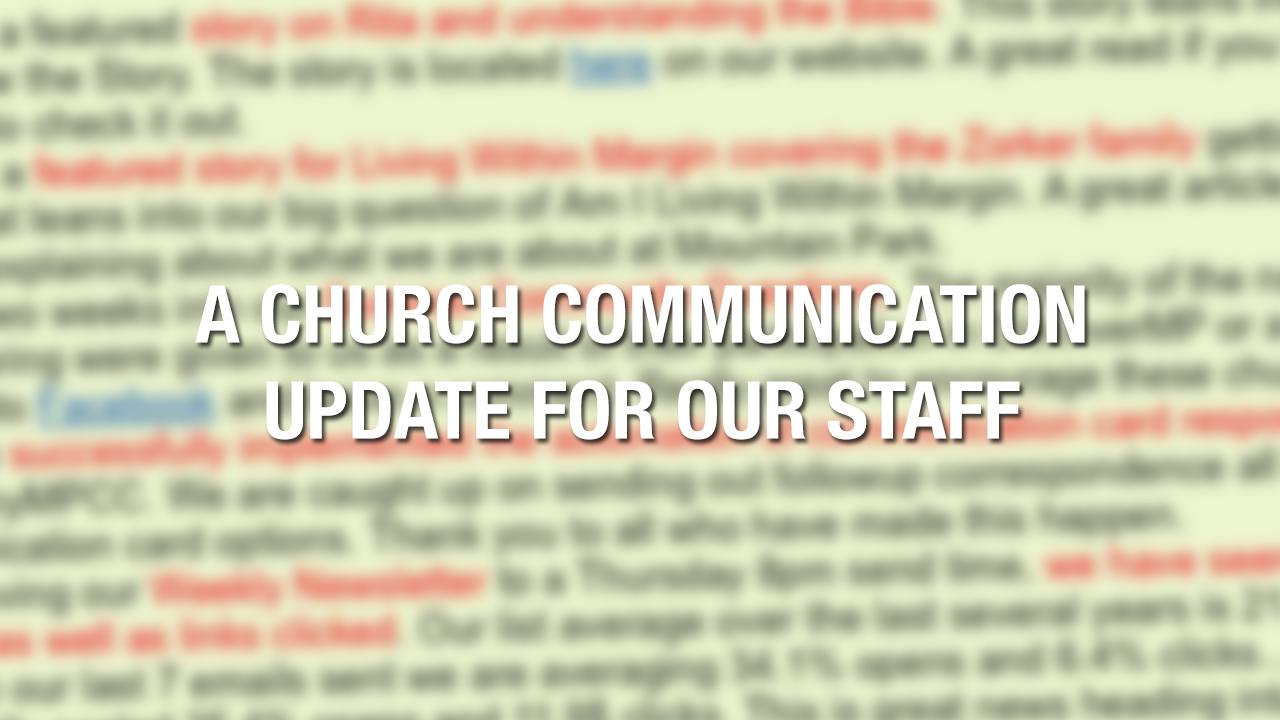 church-communication-update