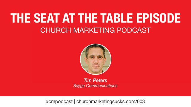 Church communication directors with Tim Peters