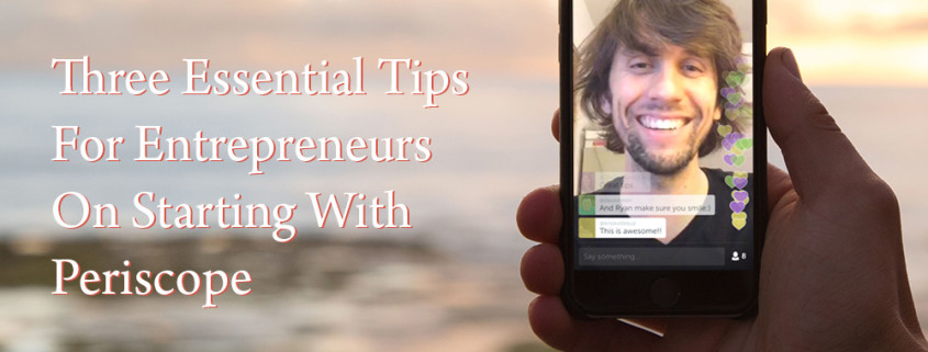 Three Tips for Entrepreneurs launching on live streaming